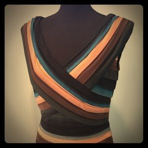 Ombré stripe cocktail dress. Stretchy, flattering